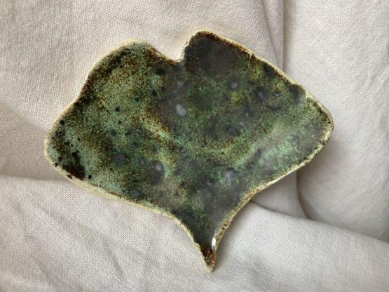ceramiczny liść miłorząb