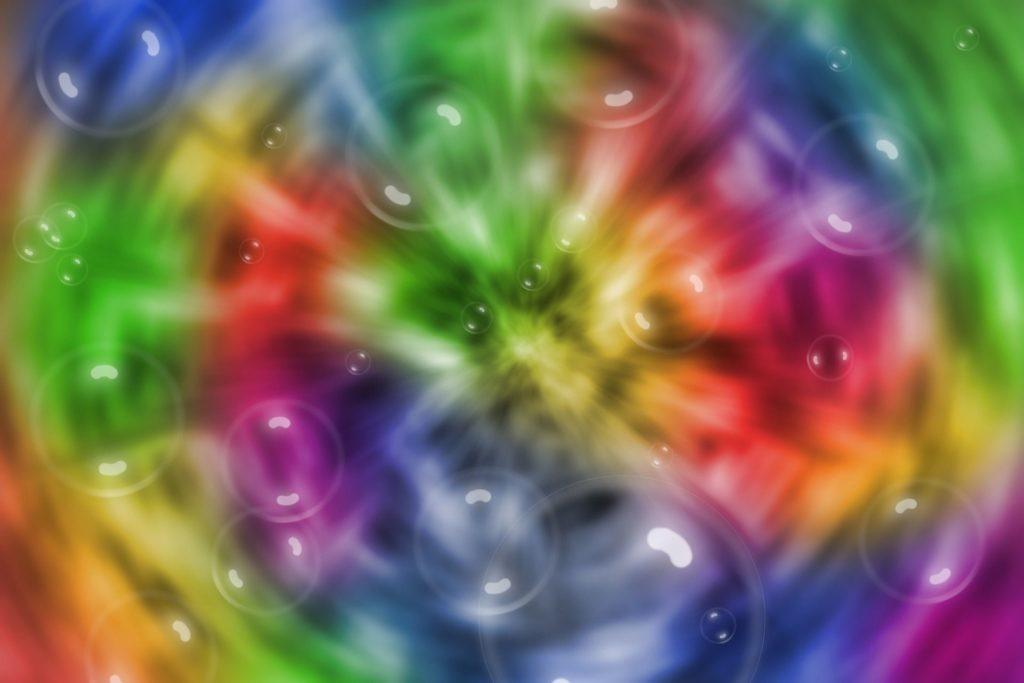 kolorowe bąbelki