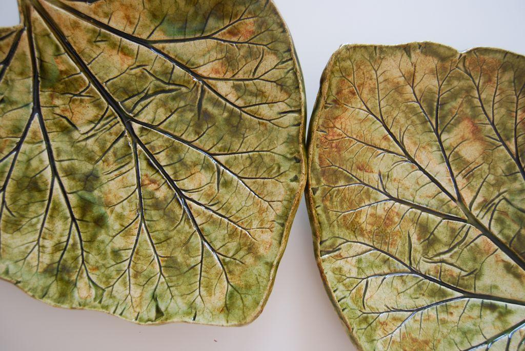ceramiczne liście