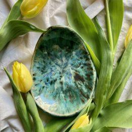 ceramiczny talerz jajko